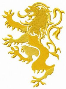 Lannister mascot embroidery design