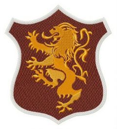 Lannister shield embroidery design
