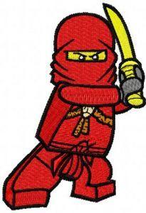 LEGO Ninjago Kai embroidery design