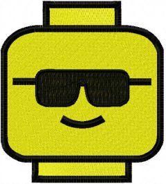 Lego sunglasses embroidery design