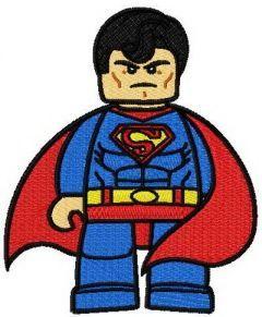 Lego Superman embroidery design