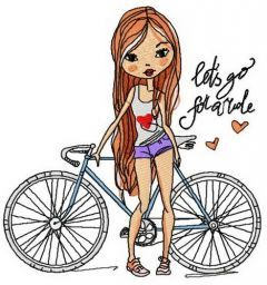 Let's go for a ride embroidery design
