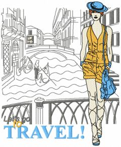 Let's go to Travel! embroidery design