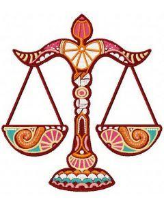 Zodiac Sign Libra embroidery design