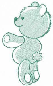 Light green teddy embroidery design