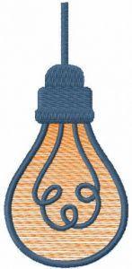 Lightbulb free embroidery design