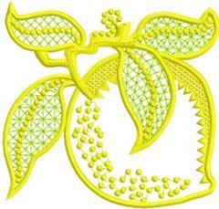 Limon Applique free machine embroidery design
