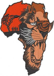 Africa Lion 2 embroidery design
