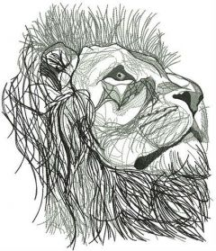 Lion from Narnia embroidery design
