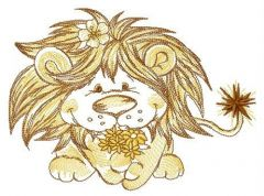 Lion's bouquet for you embroidery design