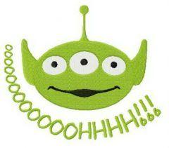 Little Green Man oooohhh embroidery design