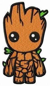 Little Groot embroidery design