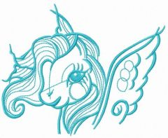 Little Pony head embroidery design