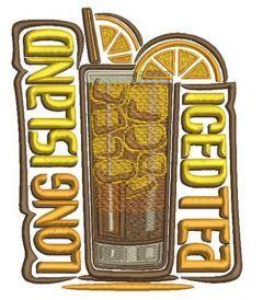 Long Island iced tea embroidery design