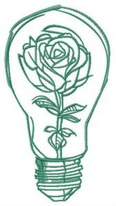 Look through the light bulb embroidery design