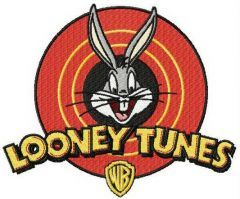 Looney Tunes logo embroidery design