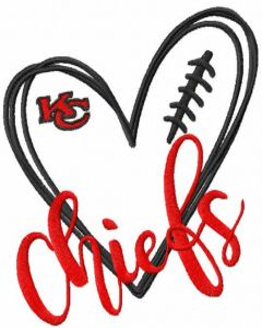 Love Chiefs embroidery design
