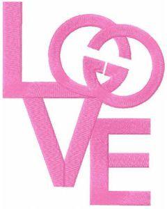 Love Gucci embroidery design