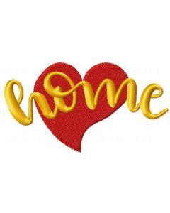 Love home embroidery design