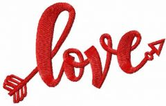 Love sign 2 embroidery design