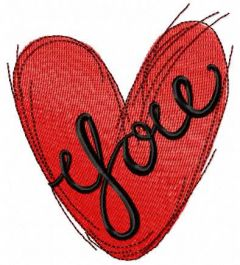 Love you 10 embroidery design
