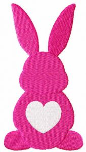 Loving Easter bunny free embroidery design