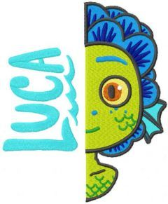 Luca monster embroidery design