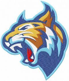 Lynx mascot embroidery design