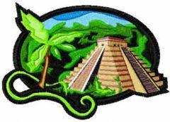 Machu Picchu free machine embroidery design