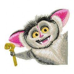 Lemur 1 embroidery design