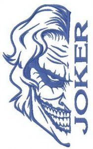 Mad Joker embroidery design
