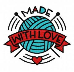 Made with love 2 embroidery design