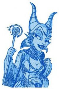 Maleficent 2 embroidery design