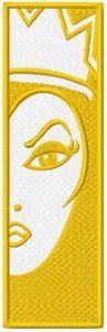 Maleficent bookmark embroidery design