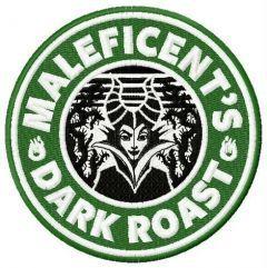 Maleficent's dark roast embroidery design