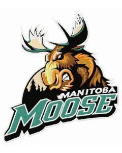 Manitoba Moose logo embroidery design