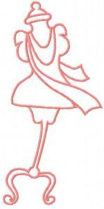 Mannequin embroidery design