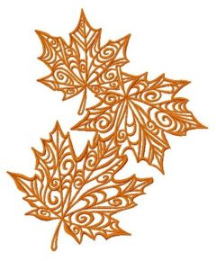 Maple leaves 3 embroidery design