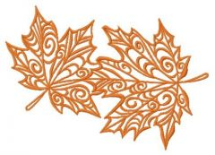 Maple leaves 4 embroidery design
