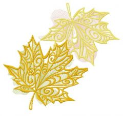 Maple leaves 6 embroidery design