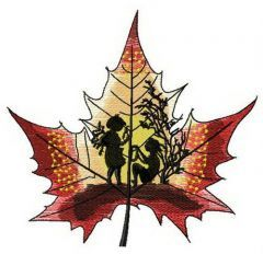Maple stories embroidery design