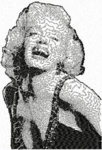 Marilyn Monroe photo stitch free embroidery design 6