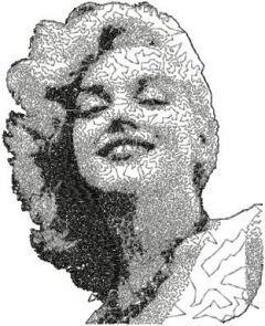 Marilyn Monroe photo stitch free embroidery design 5