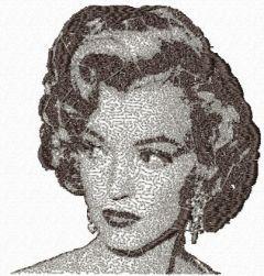 Marilyn Monroe photo stitch free embroidery design 4