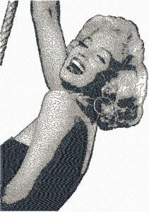 Marilyn Monroe photo stitch free embroidery design