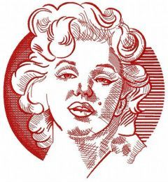Marilyn Monroe sketch embroidery design