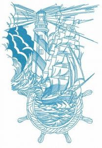 Marine collage 2 embroidery design
