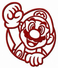 Mario the winner embroidery design
