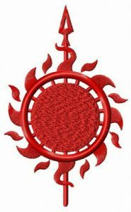 Martell mascot from Game of Thrones embroidery design