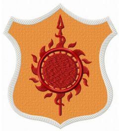 Martell shield from Game of Thrones embroidery design